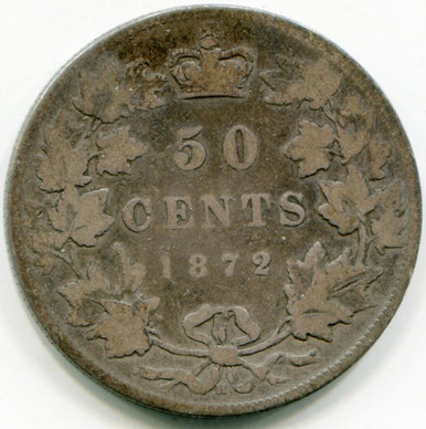 1872 H Canada 50 cents KM#6 VG