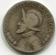 1931 (F) Panama 1/4 de Balboa KM#11.1 F