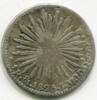 1825 MO Mexico 1 Real KM#372.8 F