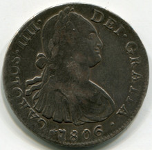 1806 TH Mexico 8 Reales KM#109   XF