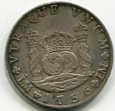 1756/56 JM  Peru 8 Reales KM# 55.1  XF