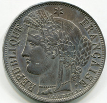 1851 A France 5 Francs KM#761.1 AU