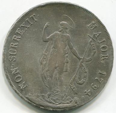 1794 Italy States  Genoa 8 Lira KM#249  VF35