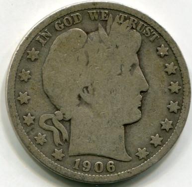 1906  D Barber Half Dollar VG