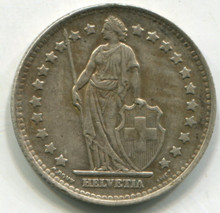 1945 Switzerland 1 Franc KM#24  AU