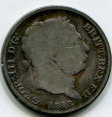 1818 Great Britain Shilling KM#666 G