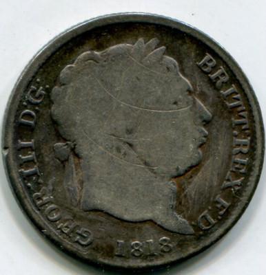 1818 Great Britain Shilling KM#666 G