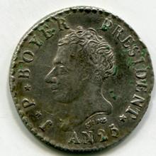 1828 AN25 Haiti  50 Centimes XF45