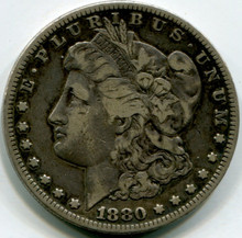 1880 CC Morgan Dollar Reverse Of 1878  VF