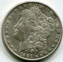 1901 S   Morgan Dollar  AU