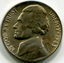 1943 P Jefferson Nickel UNC