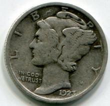 1923  Mercury  Dime  F
