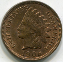 1906  Indian Head Cent MS63 RB
