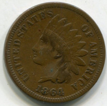 1864  Indian Head Cent VF  (L)