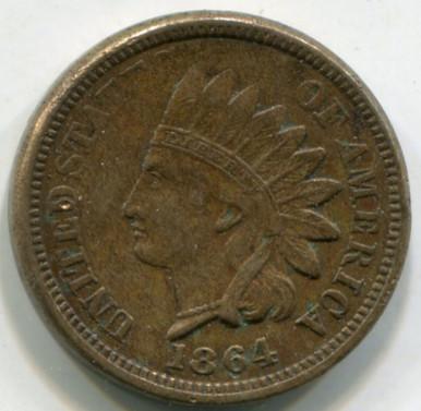 1864  Indian Head Cent  AU