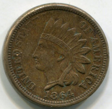 1864  Indian Head Cent  AU
