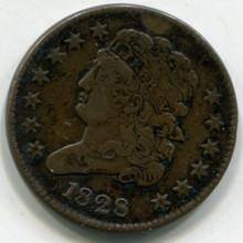 1828  Half Cent  XF40  13 Stars
