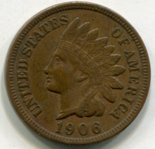 1906 Indian Head Cent  AU