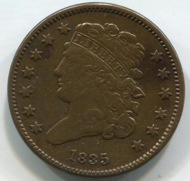 1835 Half Cent XF45