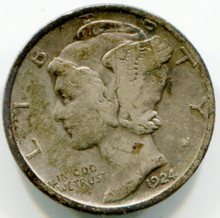 1924 D Mercury Dime F