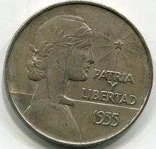 1935 Cuba ABC $1 Peso  AU