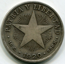 1920 Cuba 40 Centavos  VF