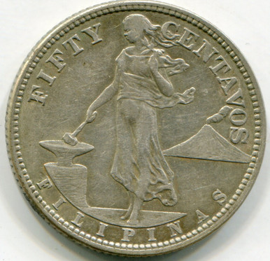 1920 Philippines 50 cents  VF
