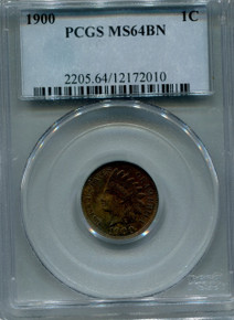 1900 Indian Head Cent  PCGS MS64BN