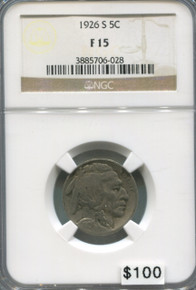 1926 S Buffalo Nickel NGC F15