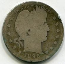 1896 O Barber Quarter  G