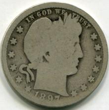 1897 O Barber Quarter  AG