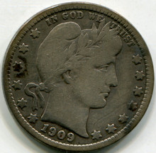 1909 D Barber Quarter  F