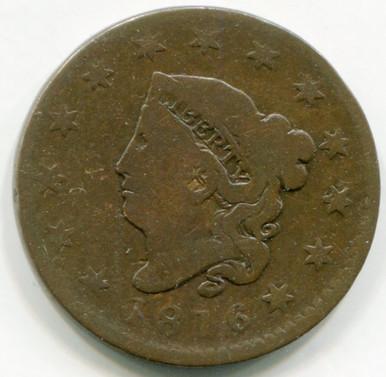 1816 Large Cent F