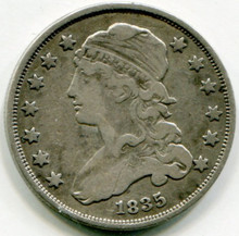 1835 Capped Bust Quarter VF