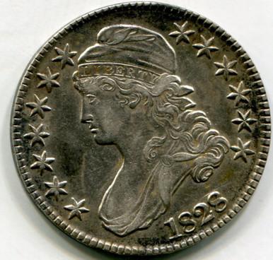 1828 Capped Bust Half Dollar AU50