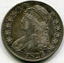 1826 Capped Bust Half Dollar AU50