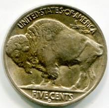 1938 D Buffalo Nickel AU58
