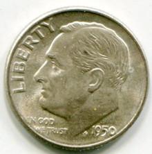1950 D Roosevelt  Dime MS60