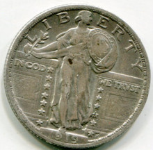 1919 Standing Liberty Quarter AU50