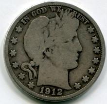1912 D Barber Half Dollar VG10