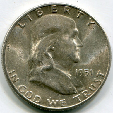 1951 S Frankling Half Dollar  MS60