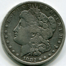 1882 CC Morgan Dollar  F