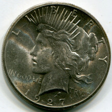 1927 Peace Dollar  MS63