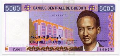 Djibouti 5.000 Francs P#44 UNC
