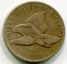 1858 Flying Eagle Large Leter VG10