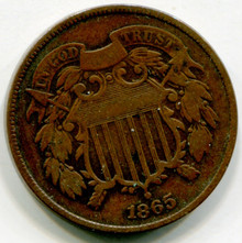 1865 Two Cents  XF