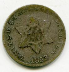 1853 Three Cents Silver F15
