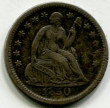 1850 Half Dime  XF45