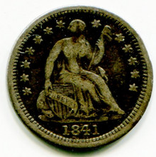 1841  Half Dime VF30
