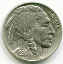 1936 Buffalo Nickel  AU